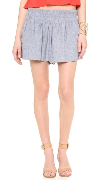 Ella Moss Tessa Chambray Mini Shorts - Chambray at Shopbop / East Dane