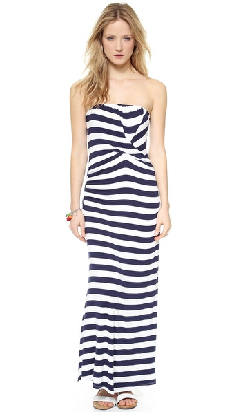Ella Moss Isla Strapless Maxi Dress - White