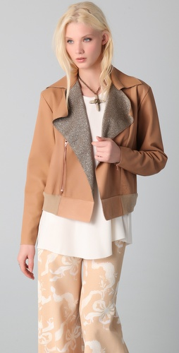 Ellery Cleopatra Leather Bomber Jacket
