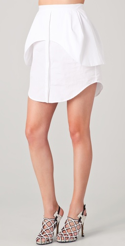 Ellery Camaraderie Apron Peplum Skirt