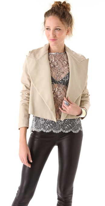 Ellery Mr. Bjork Jacket with Leather Sleeves