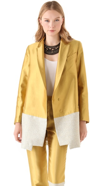 Ellery 3/4 Jacket with Spliced Hem