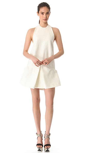 Ellery Drop Waist Halter Dress