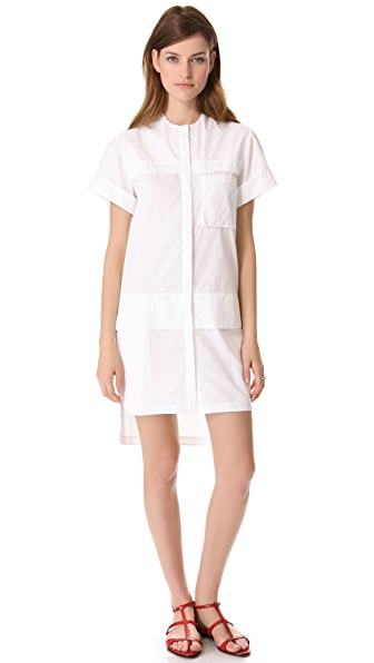 Ellery Shirt Dress with Plackets
