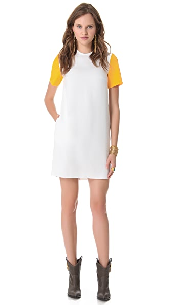 Ellery Swank Dress with Contrast Sleeves