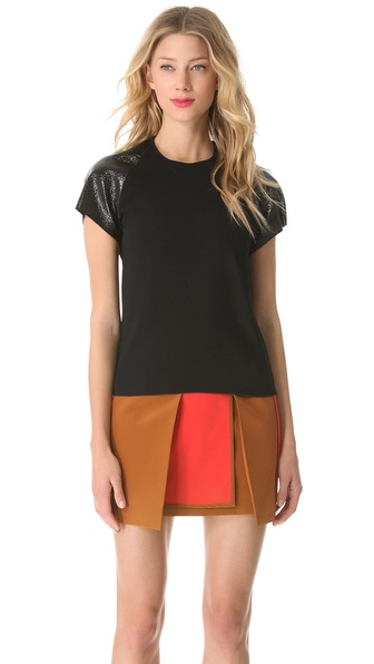 Ellery Hornets Tee with Contrast Sleeves