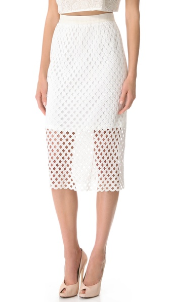 Ellery Cerle Overlay Skirt