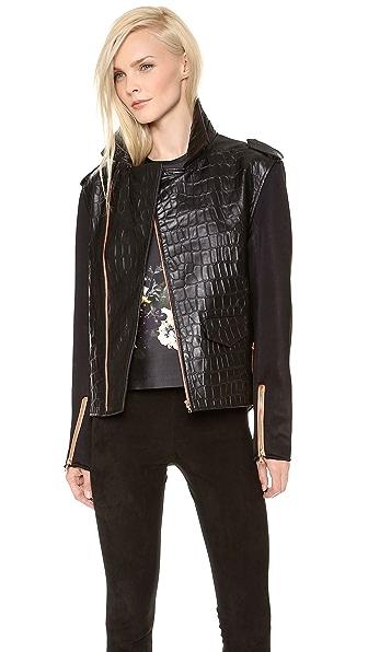 Ellery Snappy Man Style Bomber Jacket