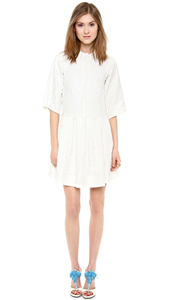 Ellery Aluminia Sheer Panel Shirtdress