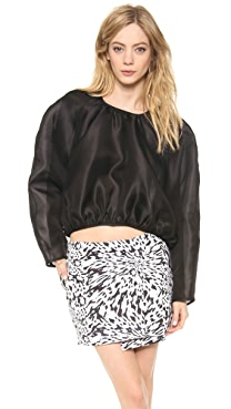 Ellery Cropped Round Blouse