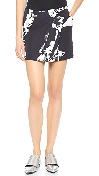 Wrap Wrap Sadie Wrap Detail Miniskirt (Multicolor)
