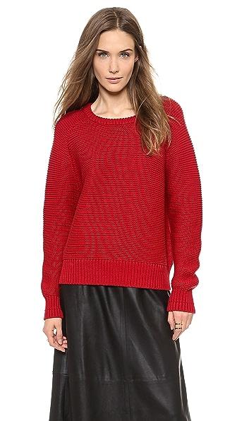 Elle Sasson Waffle Knit Sweater