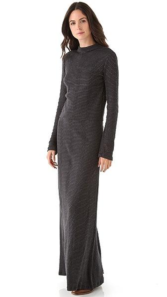Edith A. Miller Turtleneck Open Back Maxi Dress