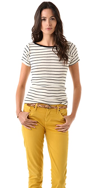 Edith A. Miller Boat Neck Short Sleeve Tee