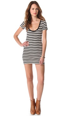 Edith A. Miller Scoop Neck Mini Dress