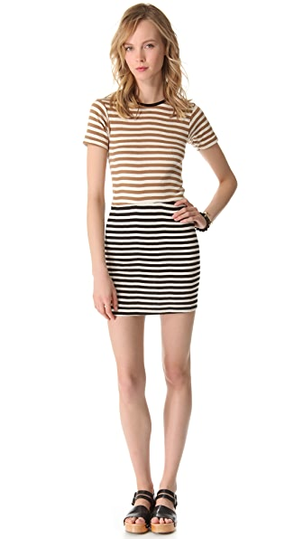 Edith A. Miller Crew Neck Mini Dress