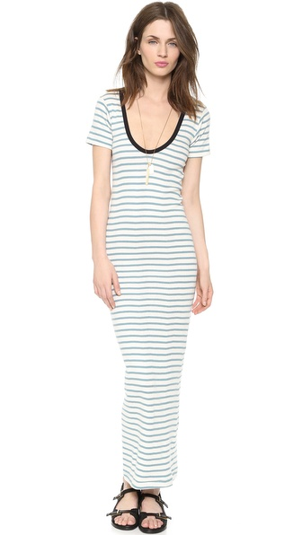 Edith A. Miller Scoop Neck Maxi Dress