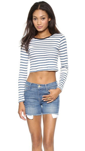 Edith A. Miller Long Sleeve Crop Top