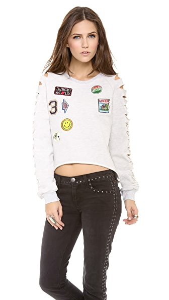 endless rose Patches Sweatshirt