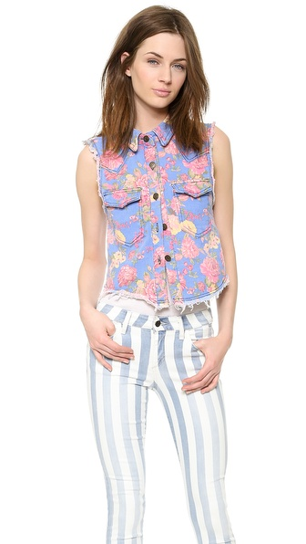endless rose Flora Print Vest