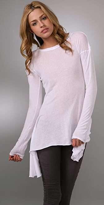 Enza Costa Symmetrical Long Sleeve Top