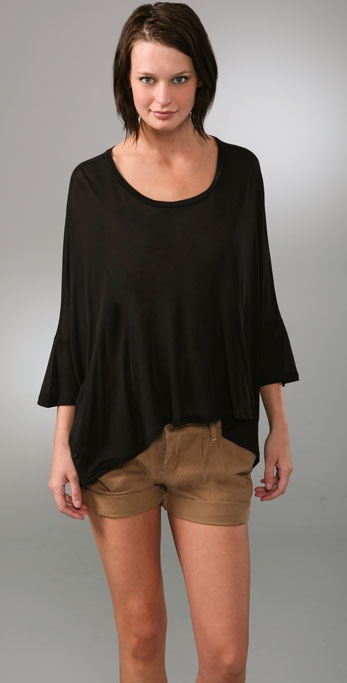 Enza Costa Oversized Scoop Tee