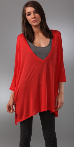 Enza Costa Oversized V Neck Tunic