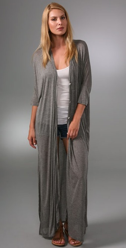 Enza Costa Oversized Button Cardigan