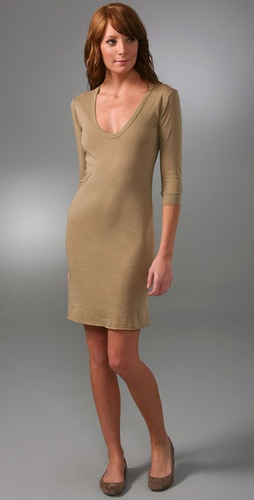 Enza Costa 3/4 Sleeve Bold Dress
