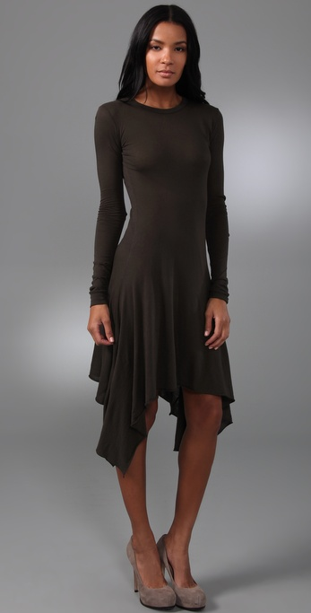 Enza Costa Long Sleeve Symmetrical Dress