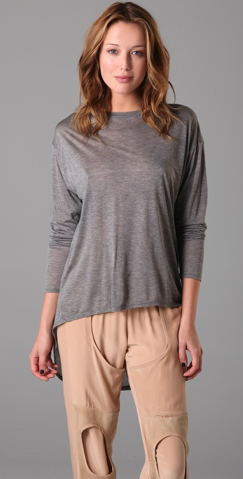 Enza Costa Long Sleeve Tails Tee