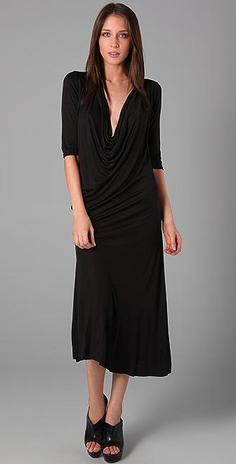 Enza Costa Cowl Neck Long Dress