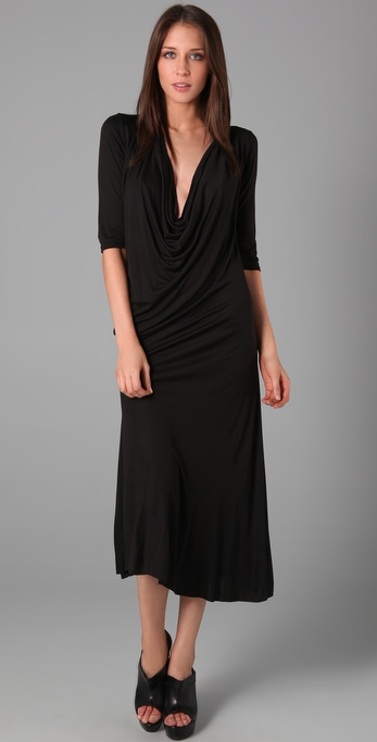 Enza Costa Cowl Neck Long Dress