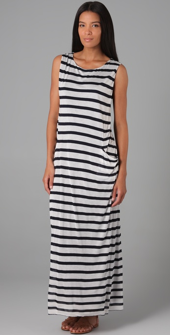 Enza Costa Sleeveless Pocket Dress