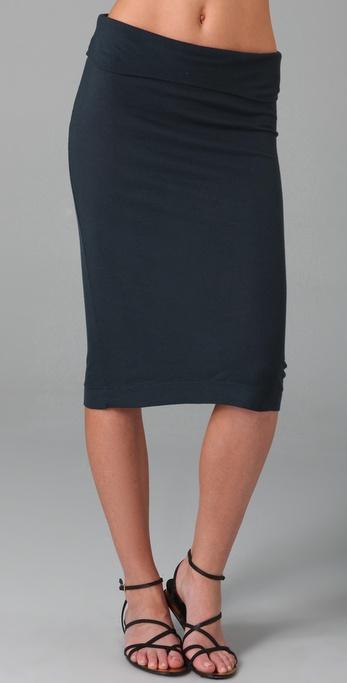 Enza Costa Rib Skinny Skirt