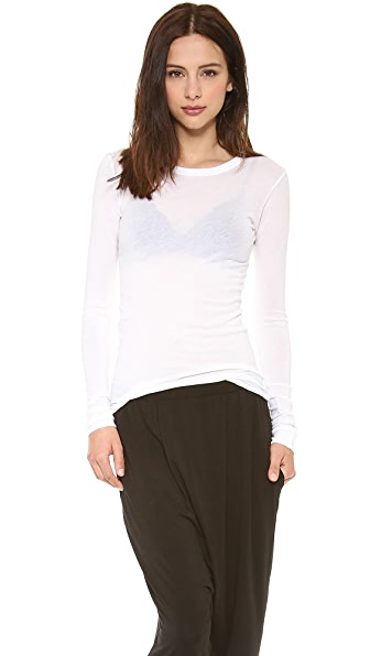 Enza Costa Bold Long Sleeve Crew Tee