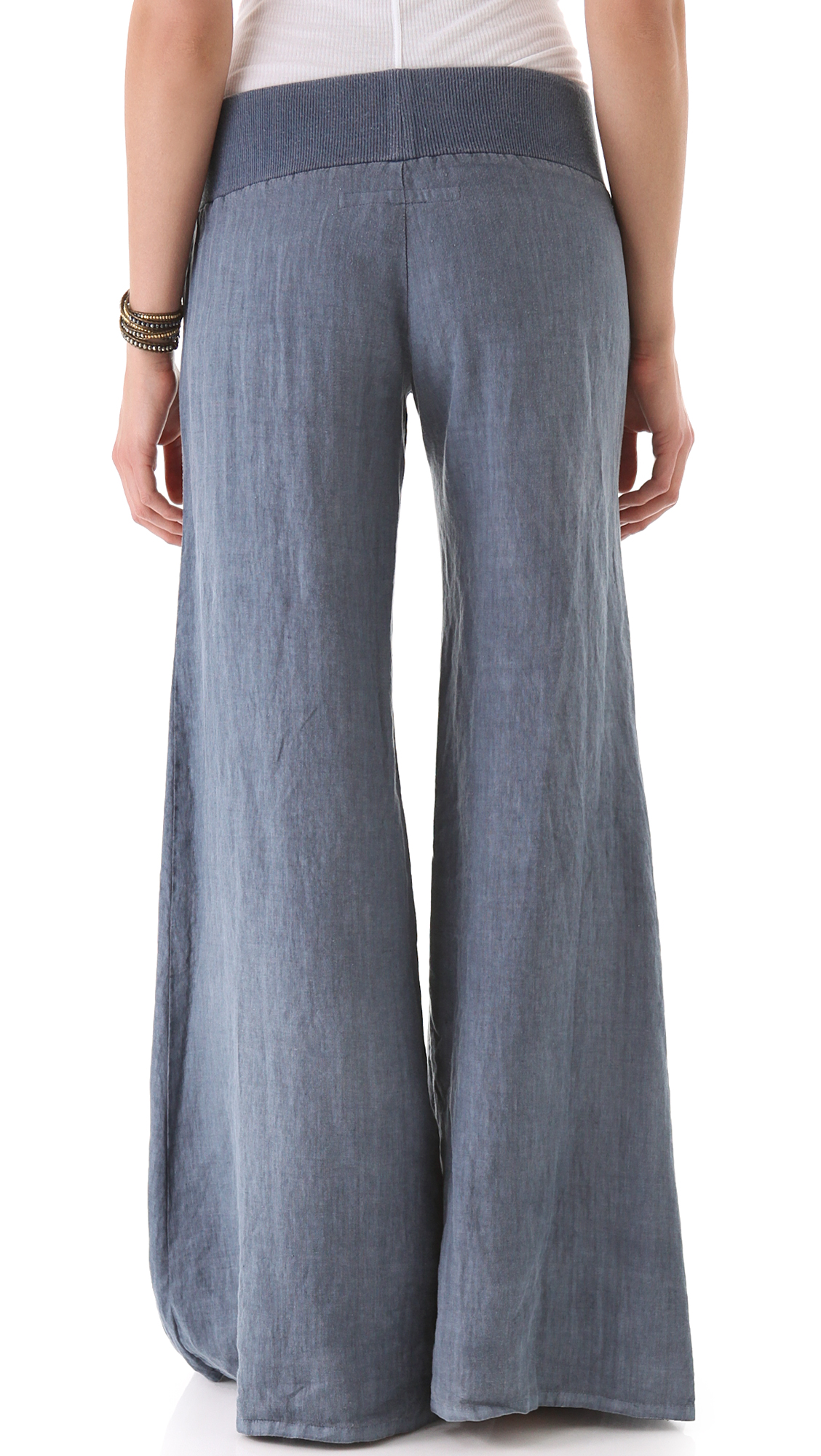 Creative The Material Is A Cotton Poplin And Machine Washable  Cropped WideLeg Pant In Heavy Linen, French Blue, Size 8  I Was Excited To Try These Pants As The Color Looked Gorgeous Online And A Heavier Weight Linen Would Be Good For Work