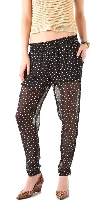 Enza Costa Chiffon Zipper Pants