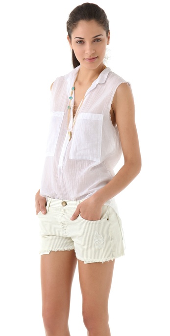 Enza Costa Sleeveless Blouse