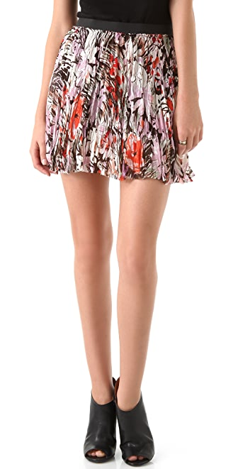 Enza Costa Chiffon Miniskirt