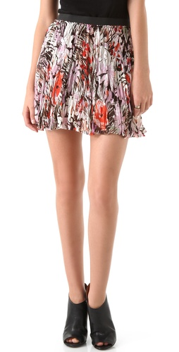 Enza Costa Chiffon Miniskirt
