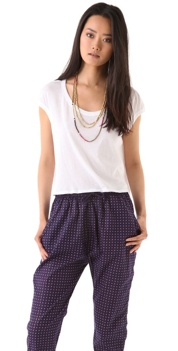 Enza Costa Cropped Tee