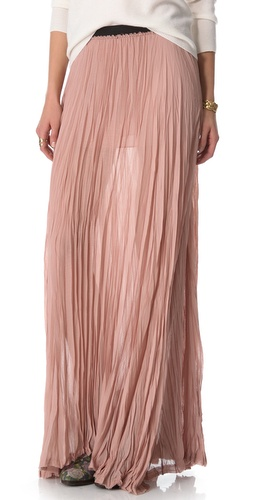 Shop Enza Costa Chiffon Pleated Maxi Skirt and Enza Costa online - Apparel,Womens,Bottoms,Skirts, online Store