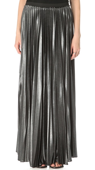 Enza Costa Foiled Maxi Skirt
