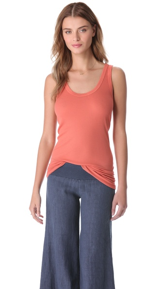 Enza Costa Silk Rib Bold Tank