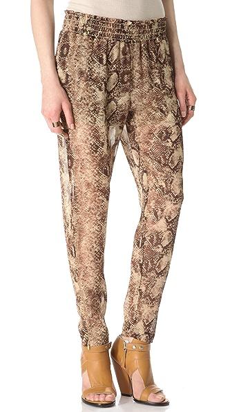 Enza Costa Chiffon Zip Pants