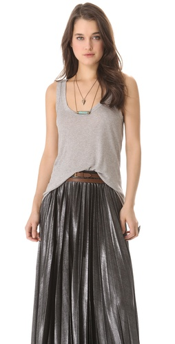 Shop Enza Costa Rib Hi Lo Tank and Enza Costa online - Apparel,Womens,Tops,Tee, online Store