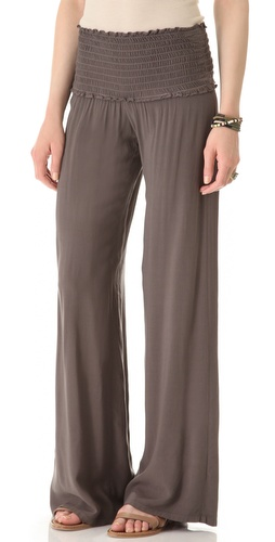 Shop Enza Costa Ruched Flare Pants and Enza Costa online - Apparel,Womens,Bottoms,Pants,Trousers, online Store