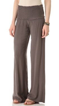 Enza Costa Ruched Flare Pants
