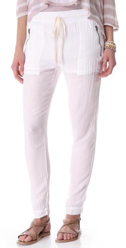 Enza Costa Drawstring Pants